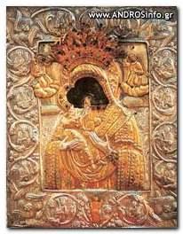 Ιερά Μονή Παναχράντου, Η εικόνα της Θεοτόκου, έργο του ΅Ευαγγελιστή Λουκά